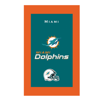 Miami Dolphins NFL Towel Sold As Each