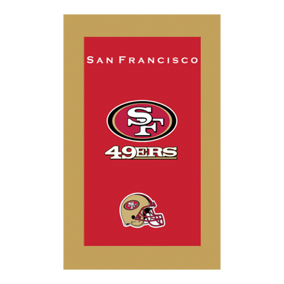 San Francisco 49Ers Towel Sold As Each