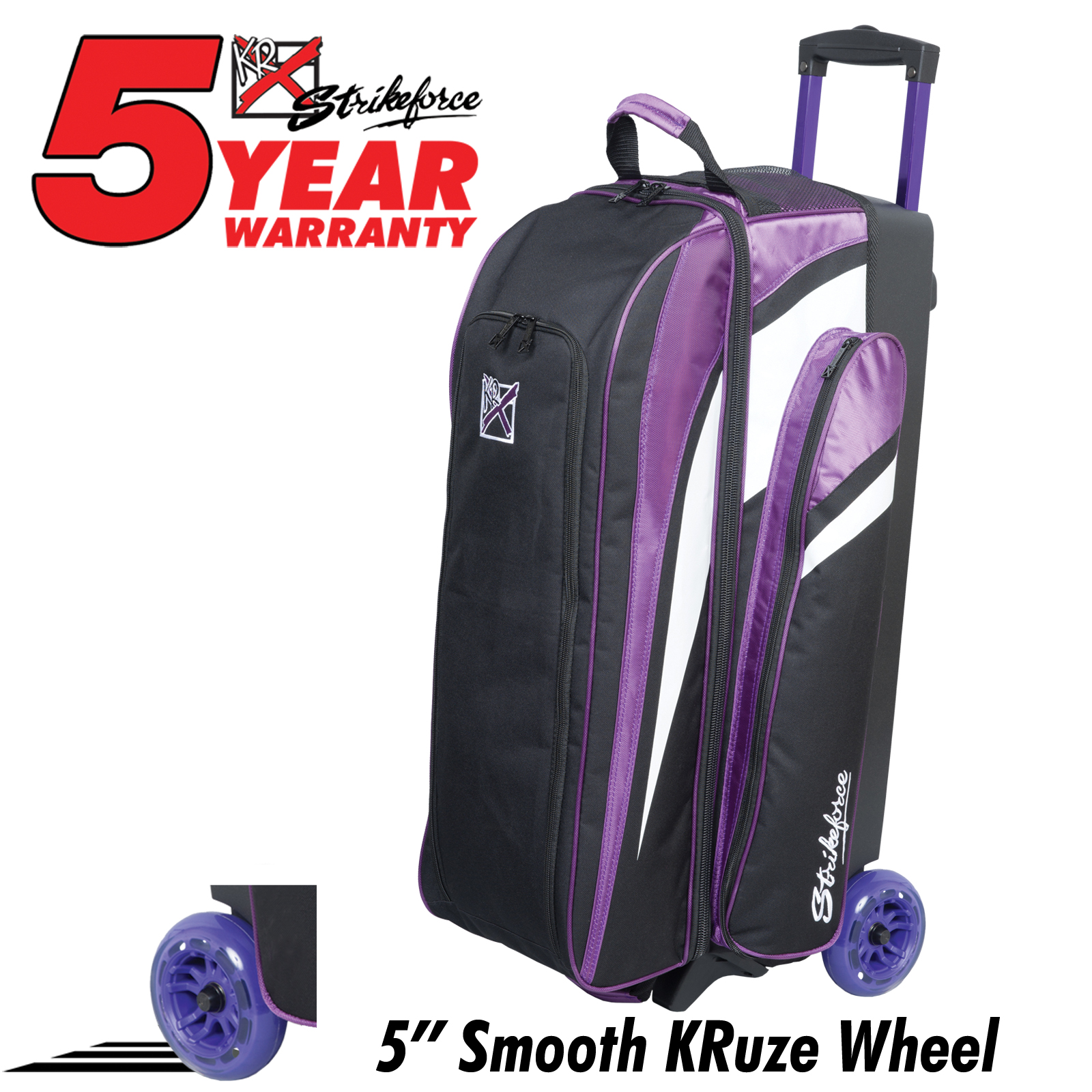 Cruiser Smooth Triple Roller Purple