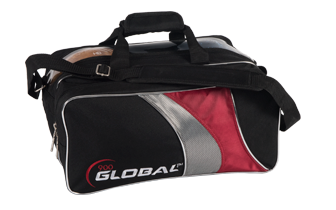Global 2-Ball Travel Tote Blk/Red/Slvr